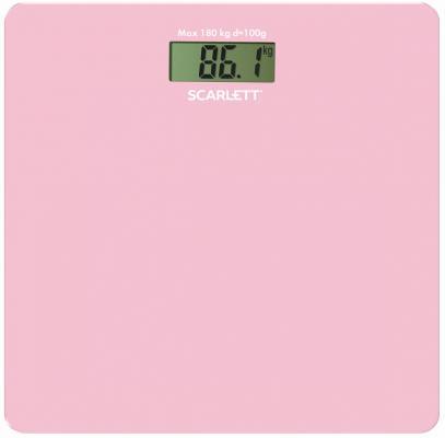 Весы напольные Scarlett SC - BS33E041 розовый весы напольные scarlett sc bsd33m951