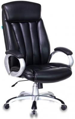 Кресло руководителя Бюрократ T-9922/BLACK-PU черный искусственная кожа (пластик серебро) кресло руководителя бюрократ t 9910n black черный искусственная кожа пластик серебро