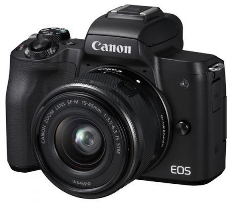 Фотоаппарат Canon EOS M50 черный 24.1Mpix 3 4K WiFi 15-45 IS STM LP-E12 (с объективом)