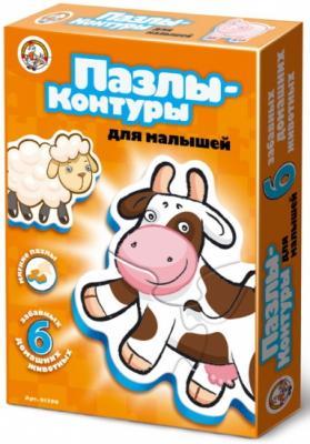 Купить Пазл-контур для малышей Домашние животные , в/к 27, 5*20*4 см, best toys, Пазлы для малышей