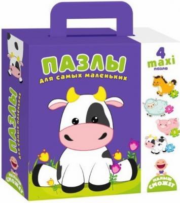 Купить Пазлы для самых маленьких Коровка 250*180*50 мм, best toys, Пазлы для малышей