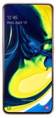 Смартфон Samsung Galaxy A80 128 Гб золотистый (SM-A805FZDUSER) смартфон samsung galaxy j1 2016 8 гб золотистый sm j120fzddser