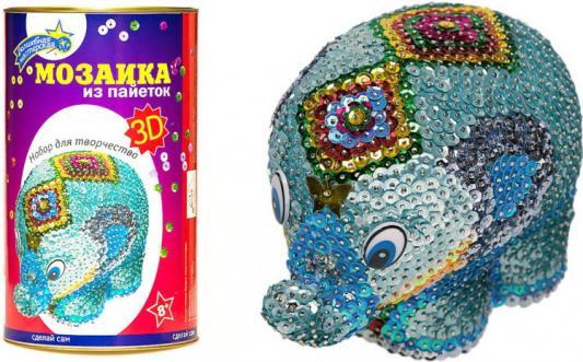 Купить Мозаика из пайеток 3D Слон 12 x 20.5 x 12 см, best toys