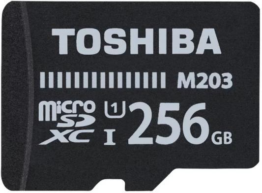 Флеш карта microSDXC 256Gb Class10 Toshiba THN-M203K2560EA M203 + adapter флеш карта microsdxc 256gb class10 kingston sdcs 256gb adapter