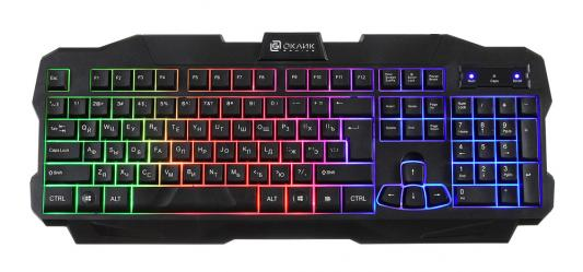 Клавиатура проводная Oklick 757G USB черный цена и фото