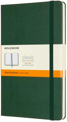 Блокнот Moleskine CLASSIC QP060K15 Large 130х210мм 240стр. линейка твердая обложка зеленый