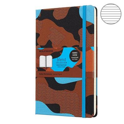 Блокнот Moleskine LIMITED EDITION BLEND LGH LCBD03QP060CAMOC2 Large 130х210мм обложка текстиль 240стр. линейка Camouflage blue huntingtower large print edition