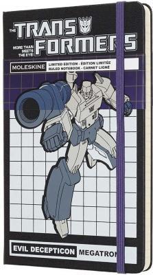 цена на Блокнот Moleskine LIMITED EDITION TRANSFORMERS LETFQP060MT Large 130х210мм 240стр. линейка MEGATRON