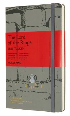 Блокнот Moleskine LIMITED EDITION LORD OF THE RINGS LELRQP060MO Large 130х210мм 240стр. линейка серый Moria lord dunsany don rodriguez chronicles of shadow valley large print edition