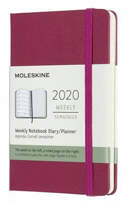 Еженедельник Moleskine CLASSIC WKNT Pocket 90x140мм 144стр. фуксия еженедельник moleskine classic soft wknt 144стр синий сапфир [dsb2012wn2]