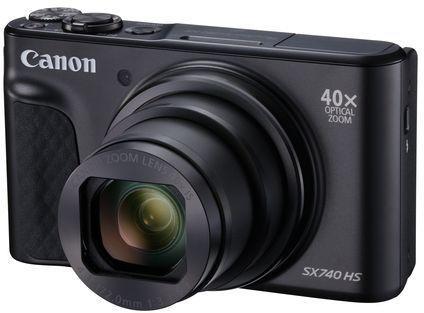 Фотоаппарат Canon PowerShot SX740HS черный 21.1Mpix Zoom40x 3 4K SDXC/SD/SDHC CMOS 1x2.3 IS opt 1minF turLCD 10fr/s 30fr/s HDMI/WiFi/NB-13L