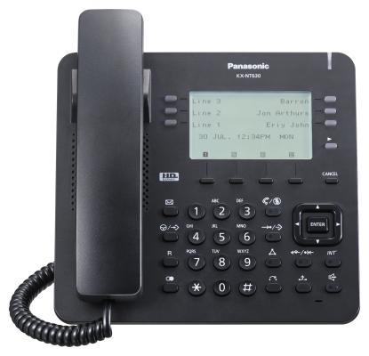 Телефон IP Panasonic KX-NT630RU-B черный телефон