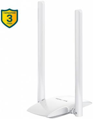 Сетевой адаптер WiFi Mercusys MW300UH USB 2.0 (ант.внеш.несъем.) 2ант. аксессуар адаптер b well ad 155 сетевой