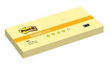 лучшая цена Блок самоклеящийся бумажный 3M Post-it Original 7100172772 38x51мм 100лист. желтый 1цв.в упак. (упак.:3шт)
