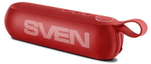 АС SVEN PS -75, красный (6 Вт, Bluetooth, FM, USB, microSD, 1200мА*ч) ас sven ps 320 черный акустическая система 2 0 мощность 2x7 5 вт rms waterproof ipx7 bluetooth встроенный аккумулятор