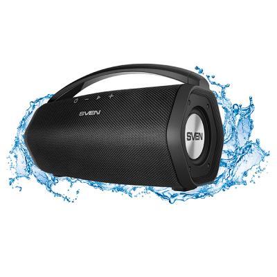 АС SVEN PS-320, черный, акустическая система 2.0, мощность 2x7.5 Вт (RMS), Waterproof (IPx7), Bluetooth, встроенный аккумулятор ас sven ps 320 черный акустическая система 2 0 мощность 2x7 5 вт rms waterproof ipx7 bluetooth встроенный аккумулятор