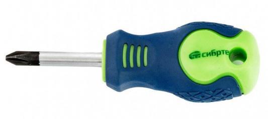 Отвертка, Ph2 х 38 мм, CrV, 2-х компонентная рукоятка// Сибртех ключ телескопический трещоточный 1 4 150 200 мм crv хромир 2 х комп рукоятка gross