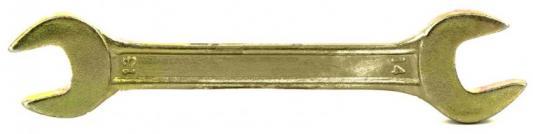 Ключ рожковый, 13 х 14 мм, желтый цинк// Сибртех