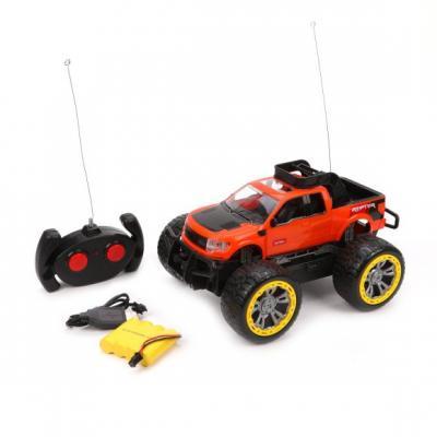 Купить Машина р/у Внедорожник, 4 канала, аккум., USB шнур, эл.пит.AA*2шт.не вх.в комплект, Наша Игрушка, черно-красный, Радиоуправляемые игрушки
