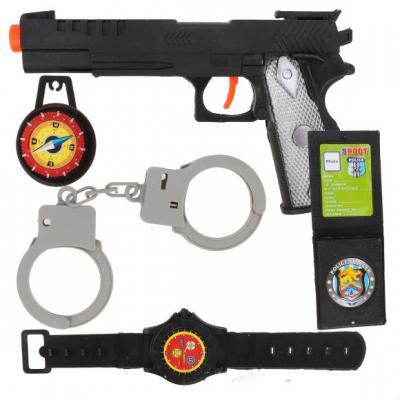 Купить Игровой набор Наша Игрушка Полиция 189-07, разноцветный, для мальчика, Игрушечное оружие
