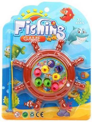 Купить Рыбалка заводная, игровое поле + 8 фигурок + удочка, блистер, Наша Игрушка, унисекс, Игровые наборы для мальчиков
