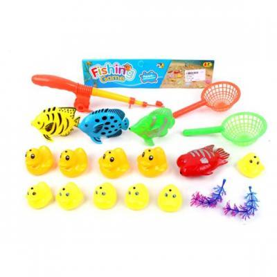 Купить Рыбалка магн. 14 фигурок+2 аксесс + 2 сита + удочка, пакет, Наша Игрушка, унисекс, Игровые наборы для мальчиков