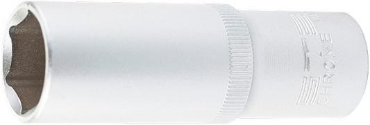 Головка торцевая удлиненная, 15 мм, 6-гранная, CrV, под квадрат 1/2, // Stels головка торцевая 1 4 е6 crv stels