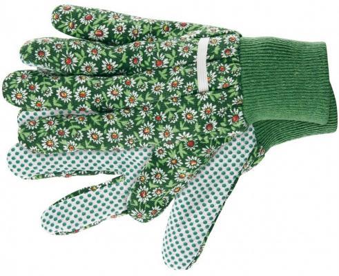 Перчатки садовые х/б ткань с ПВХ точкой, манжет, L// Palisad цена