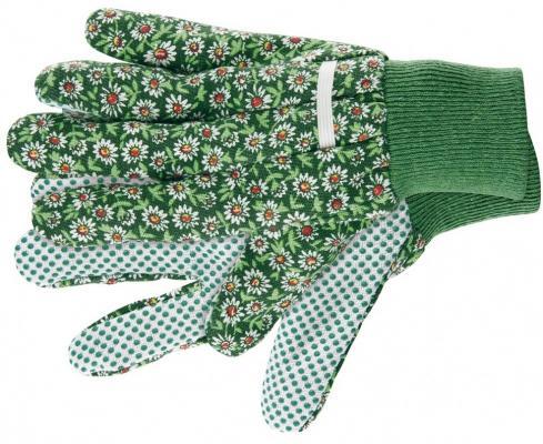 Перчатки садовые х/б ткань с ПВХ точкой, манжет, L// Palisad стоимость