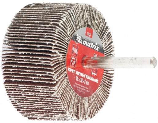 Круг лепестковый для дрели, 60 х 30 х 6 мм, Р 100// Matrix круг лепестковый для дрели 60 х 30 х 6 мм р 150 matrix