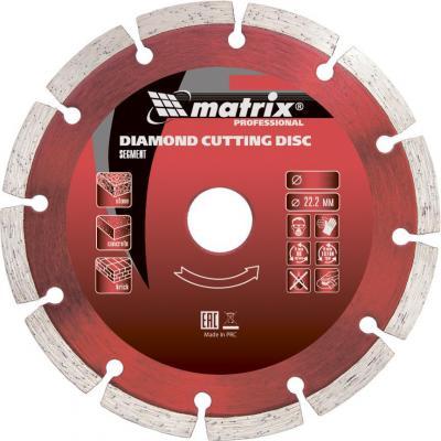 Фото - Диск алмазный отрезной сегментный, 115 х 22,2 мм, сухая резка// Matrix диск алмазный отрезной турбо сегментный 230 х 22 2 мм сухая резка matrix