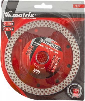 Фото - Диск алмазный отрезной сплошной, 125 х 22,2 мм, сухая резка// Matrix диск алмазный отрезной сегментный с защитными сект 125 х 22 2 мм сухая резка matrix