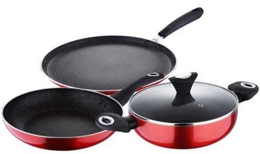Набор посуды Wellberg WB-2686-RD Metalica набор салатников wellberg wb 13311 6