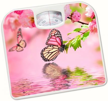 """Весы напольные Irit """"Бабочки 2"""" рисунок IR-7312 весы напольные irit ir 7236 белый рисунок"""