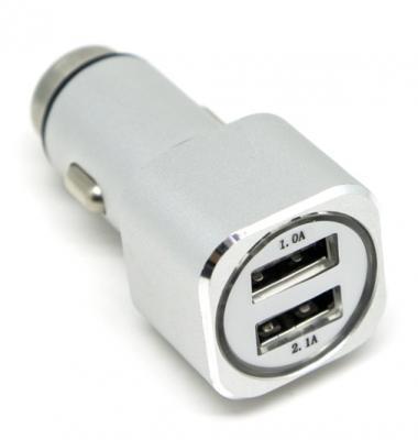 Фото - Автомобильное зарядное устройство Auzer ACC2SR 2А/1А серебристый беспроводное зарядное устройство auzer 1а золото