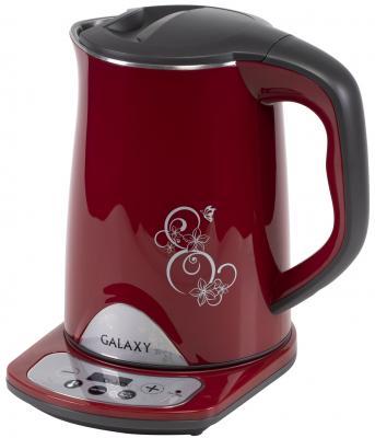 лучшая цена Чайник электрический GALAXY GL0340 1800 Вт красный 1.5 л нержавеющая сталь