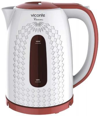 Чайник Viconte VC-3285 белый с коричневым
