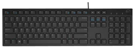 Клавиатура проводная DELL KB216 USB черный стоимость
