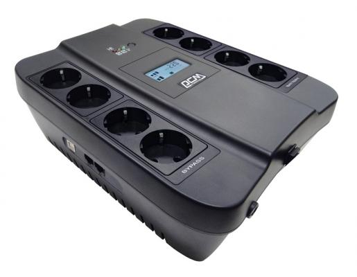 Источник бесперебойного питания Powercom SPD-550U LCD 1100VA Черный