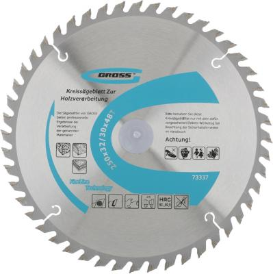 Пильный диск по дереву 250 x 32/30 x 48Т // Gross пильный диск по дереву 230 x 32 30 x 24т gross