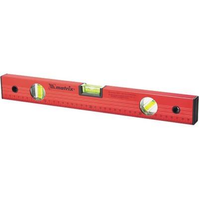 цена на Уровень алюминиевый, 1200 мм, 3 глазка, красный, линейка// Matrix