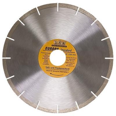 Фото - Диск алмазный отрезной сегментный, 230 х 22,2 мм, сухая резка, EUROPA Standard// Sparta диск алмазный отрезной сегментный 150 х 22 2 мм сухая резка denzel