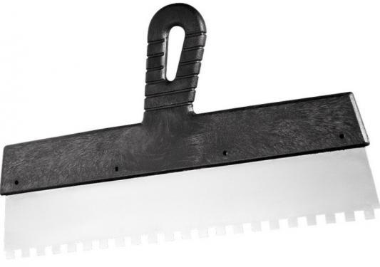 Фото - Шпатель из нержавеющей стали, 200 мм, зуб 10х10 мм, пластмассовая ручка// Сибртех шпатель из нержавеющей стали 450 мм зуб 6х6 мм пластмассовая ручка сибртех