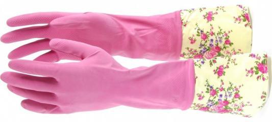 Фото - Перчатки хозяйственные латексные с манжетой, L// Elfe перчатки elfe хозяйственные с манжетой 1 пара размер m цвет розовый