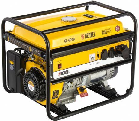 Генератор бензиновый GE 6900, 5,5 кВт, 220В/50Гц, 25 л, ручной старт </div> <div class=