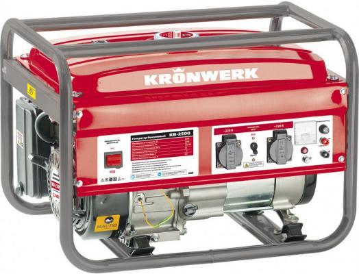 Генератор бензиновый KB 2500, 2,4 кВт, 220В/50Гц, 15 л, ручной старт// Kronwerk бензиновый генератор zongshen kb 5000e 1t90df501