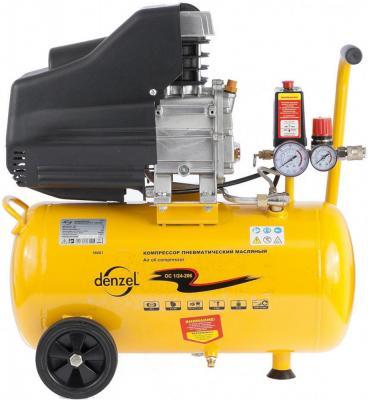 Компрессор воздушный PC 1/24-205 1,5 кВт, 206 л/мин, 24 л// Denzel компрессор воздушный kd 24 200 1 5 квт 198 л мин 24 л kronwerk