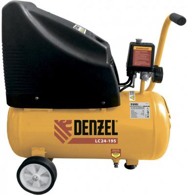 Компрессор воздушный безмасляный LC 24-195, 1.1 кВт, 195 л/мин, 24л, 8 бар// Denzel компрессор воздушный kd 24 200 1 5 квт 198 л мин 24 л kronwerk