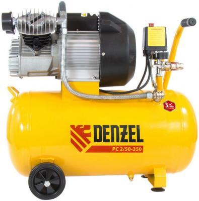 Компрессор воздушный PC 2/50-350, 2,2 кВт, 350 л/мин, 50 л// Denzel компрессор воздушный kd 24 200 1 5 квт 198 л мин 24 л kronwerk