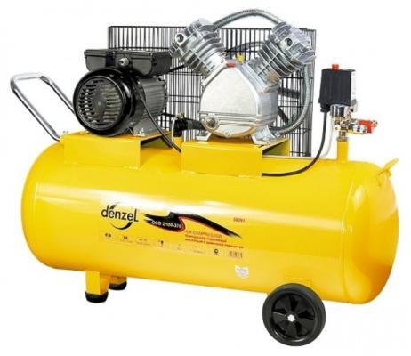 Компрессор воздушный PC 2/100-370, 2,2 кВт, 370 л/мин, 100 л// Denzel компрессор воздушный kd 24 200 1 5 квт 198 л мин 24 л kronwerk